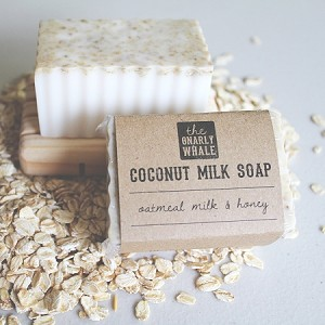 Oatmeal Milk and Honey Scented Coconut Milk Soap