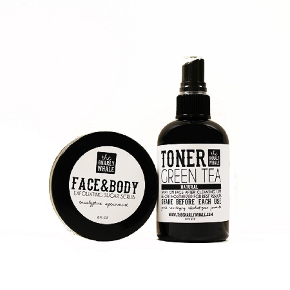 Green Tea Toner + Face & Body Scrub Gift Set